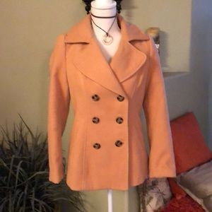 Pea coat Coral color by Bongo